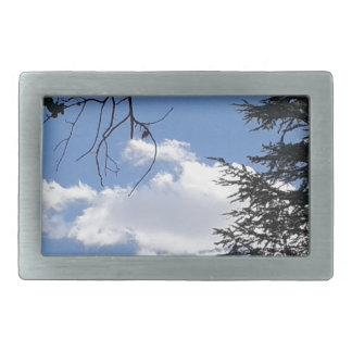 Cloud And Trees Belt Buckle
