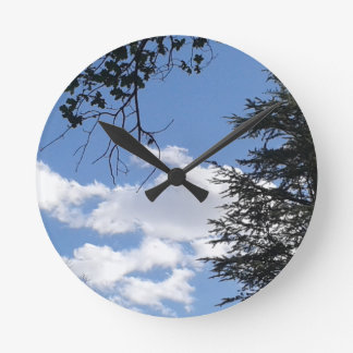Cloud And Trees Round Clock