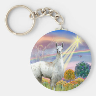 Cloud Angel and Llama Key Ring