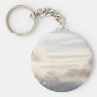 Cloud Background Basic Round Button Key Ring