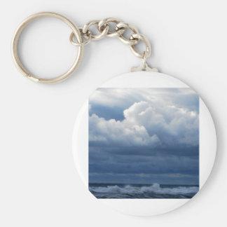 cloud bank basic round button key ring