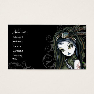 """Cloud Burst"" Tribal Aviatrix Fae Business Cards"