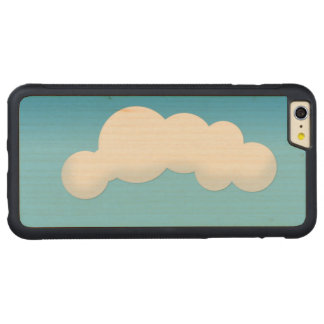 Cloud Carved Maple iPhone 6 Plus Bumper Case