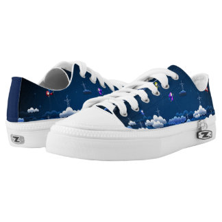 Cloud City Kickers Low Top Zipz Printed Shoes