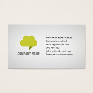 cloud computing business card with editable logo