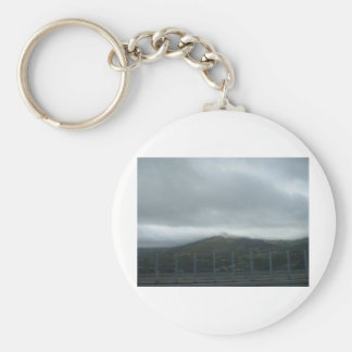 Cloud consumption basic round button key ring