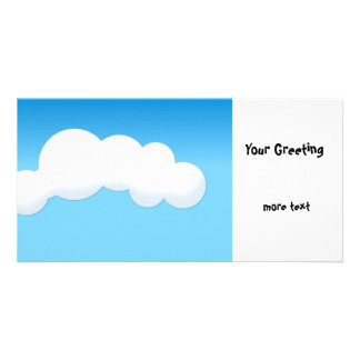 Cloud Customised Photo Card
