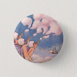 Cloud Faeries Making Clouds 3 Cm Round Badge