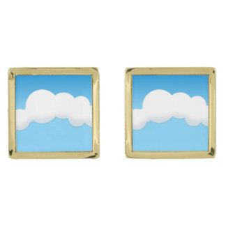 Cloud Gold Finish Cufflinks