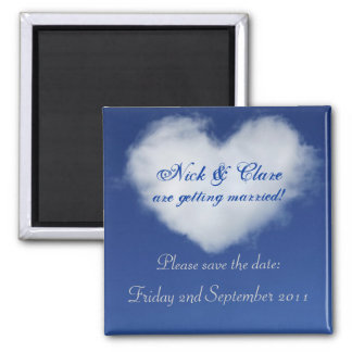 Cloud Heart Save the Date Magnet