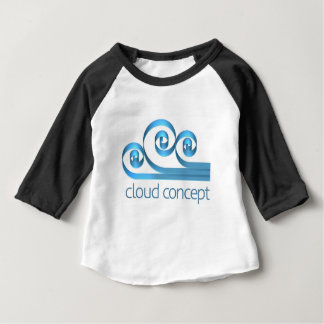 Cloud Icon Concept Baby T-Shirt