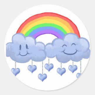 Cloud love Valentine's day Round Sticker