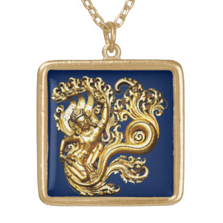 Cloud Messenger Gold Plated Necklace