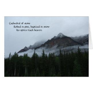 Cloud Mountain with Haiku Card