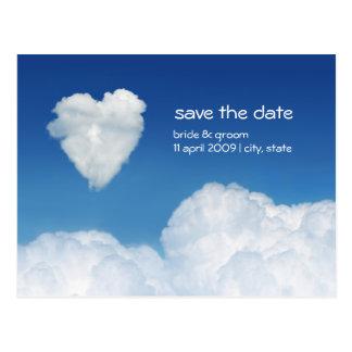 Cloud Nine - Save the Date card