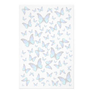 cloud of blue butterflies stationery