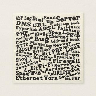 cloud of Internet words Paper Serviettes