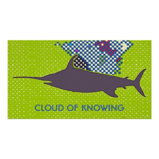 Cloud of Knowing Pop Art Poster