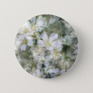 Cloud of White Flowers 6 Cm Round Badge