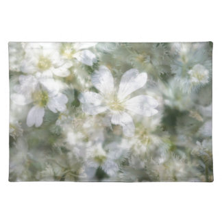 Cloud of White Flowers Placemat