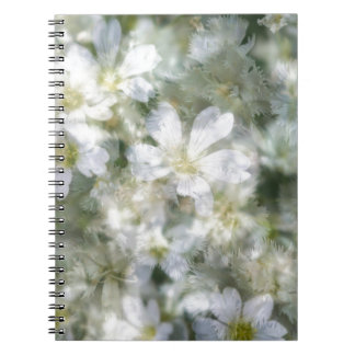Cloud of White Flowers Spiral Notebook