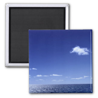 Cloud Over The Ocean Square Magnet