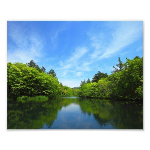 Cloud place pond of the Karuizawa summer Photograph