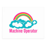 Cloud Rainbow Machine Operator Postcard