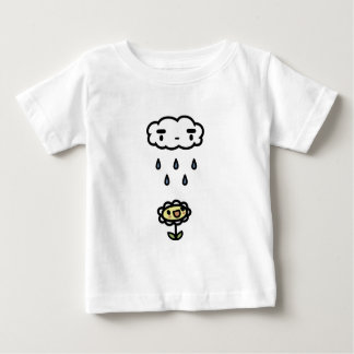 Cloud Raining On Happy Flower Baby T-Shirt