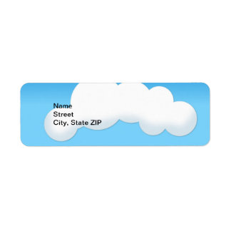 Cloud Return Address Label