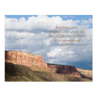 Cloud Shadows Poem and Photo Template Card