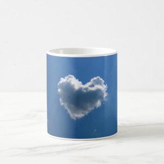 Cloud shape of a heart coffee mug