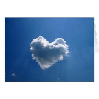 Cloud shape of a heart greeting card