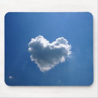 Cloud shape of a heart mouse pad