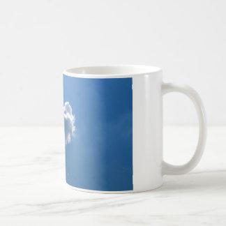 Cloud shape of a heart coffee mugs