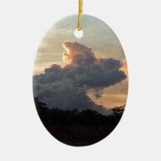 Cloud Shark Ceramic Oval Decoration