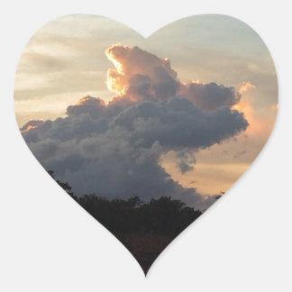 Cloud Shark Heart Sticker