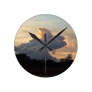 Cloud Shark Round Clock
