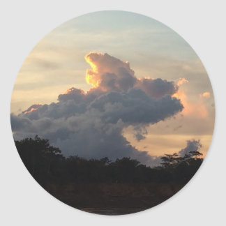 Cloud Shark Round Sticker