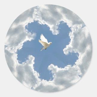 Cloud silver lining dove sticker