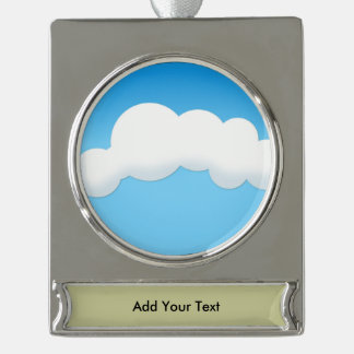 Cloud Silver Plated Banner Ornament