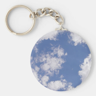 Cloud star - clouds basic round button key ring