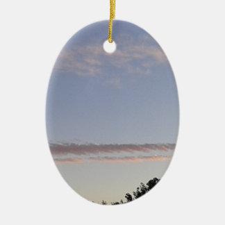 Cloud Streak Ceramic Ornament