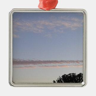 Cloud Streak Metal Ornament