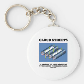Cloud Streets Be Aware Of Rising Sinking Motions Key Chain