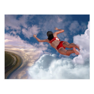 Cloud Swimming Postcard