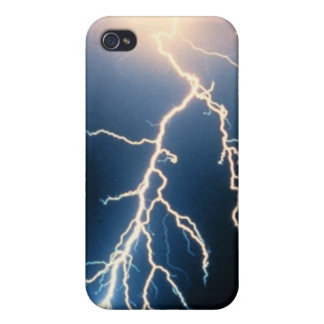 Cloud to Ground Lightning Cover For iPhone 4