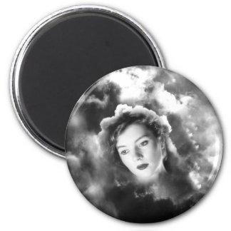 Cloud Vision 6 Cm Round Magnet