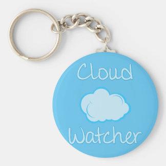 Cloud watcher basic round button key ring