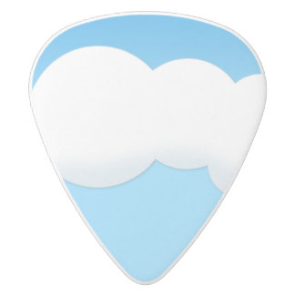 Cloud White Delrin Guitar Pick